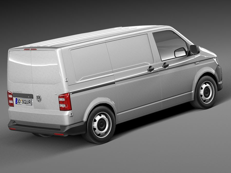 HQ LowPoly Volkswagen Transporter Panel Van T6 2016 royalty-free 3d model - Preview no. 5