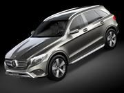 HQ LowPoly Mercedes-Benz GLC 2016 3d model
