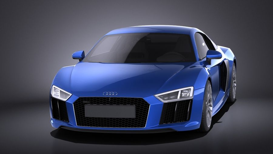 Audi R8 V10 2017 royalty-free 3d model - Preview no. 2