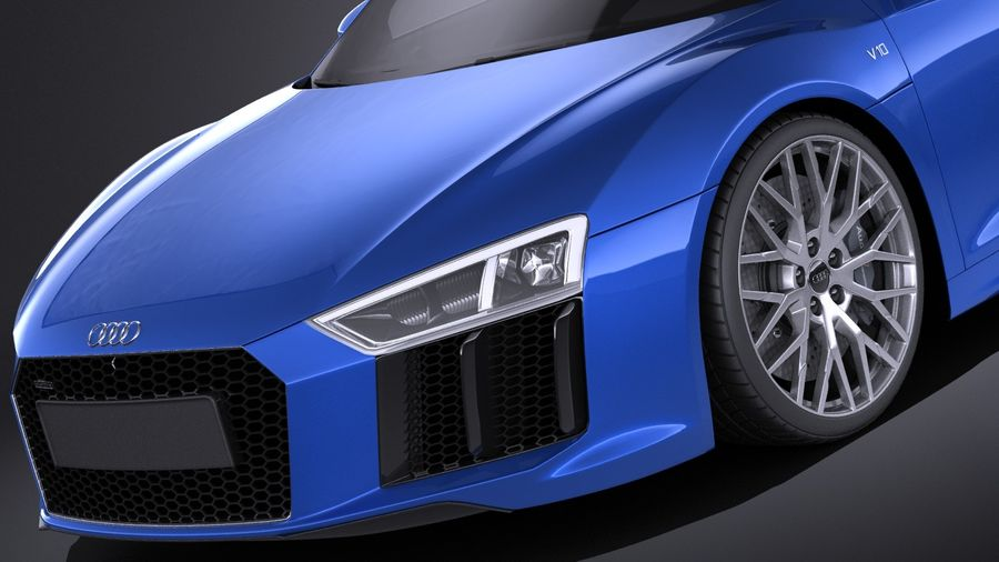 Audi R8 V10 2017 royalty-free 3d model - Preview no. 3