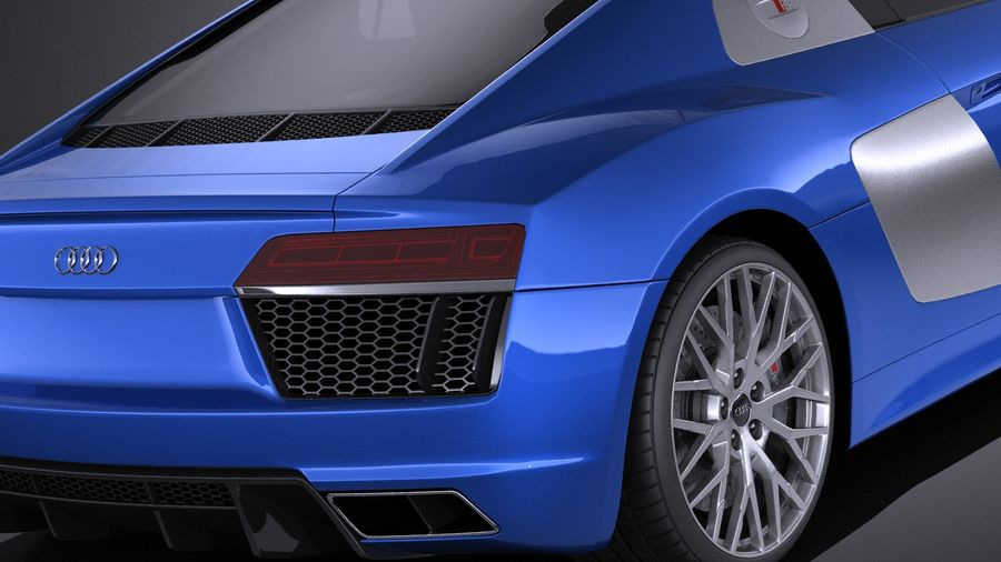 Audi R8 V10 2017 royalty-free 3d model - Preview no. 4