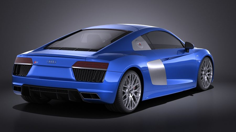 Audi R8 V10 2017 royalty-free 3d model - Preview no. 6