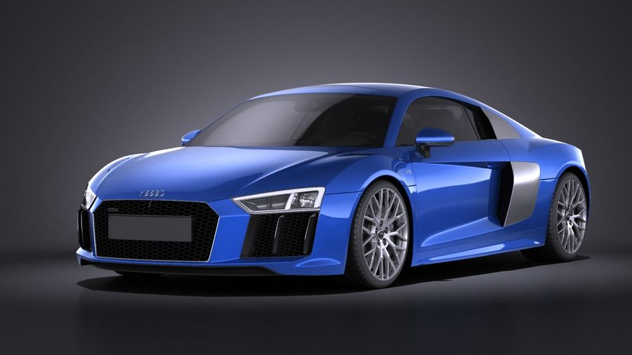 Audi R8 V10 2017 royalty-free 3d model - Preview no. 1