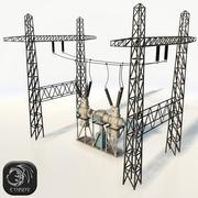 Electric power ransformator low poly 3d model