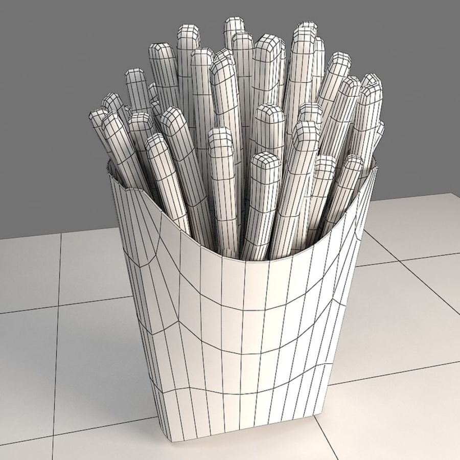 Frietjes royalty-free 3d model - Preview no. 5