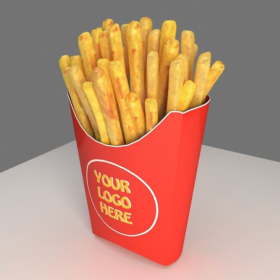 Frietjes royalty-free 3d model - Preview no. 4