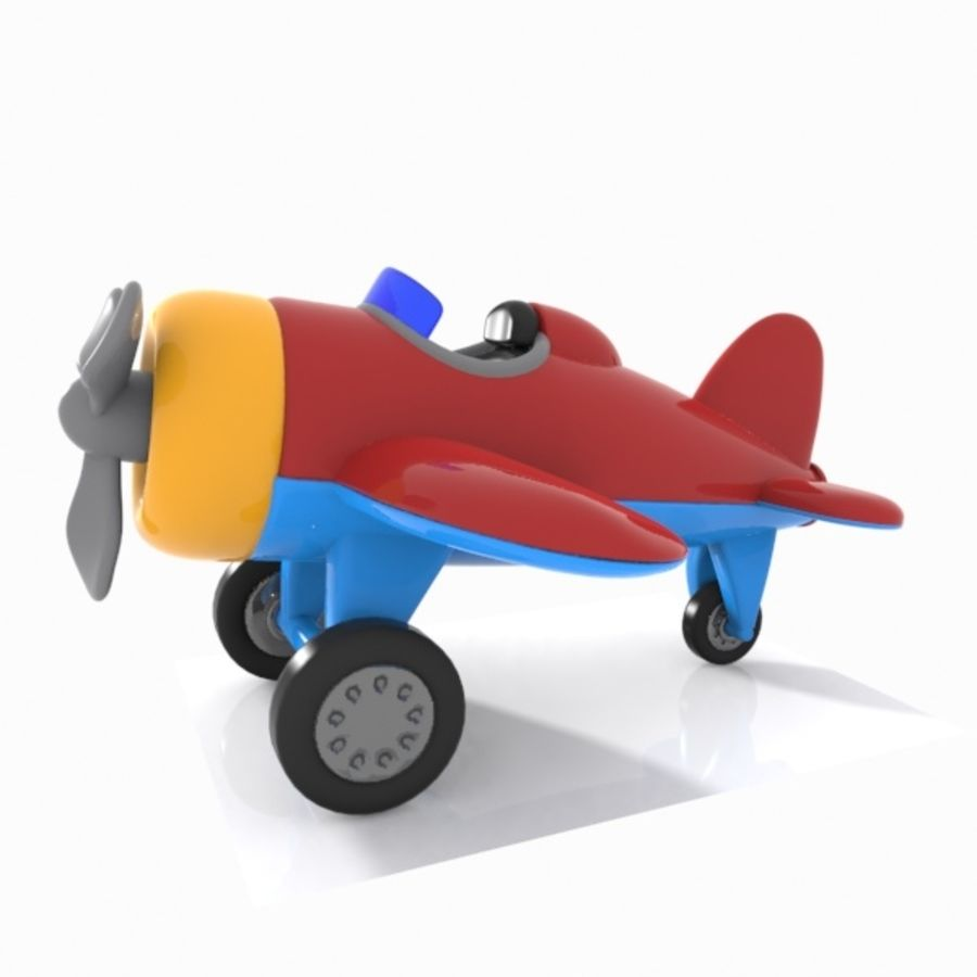 Toon Aircraft royalty-free 3d model - Preview no. 9
