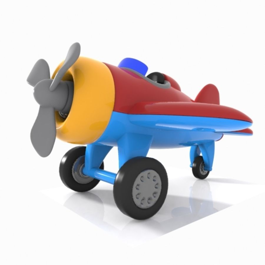 Toon Aircraft royalty-free 3d model - Preview no. 7