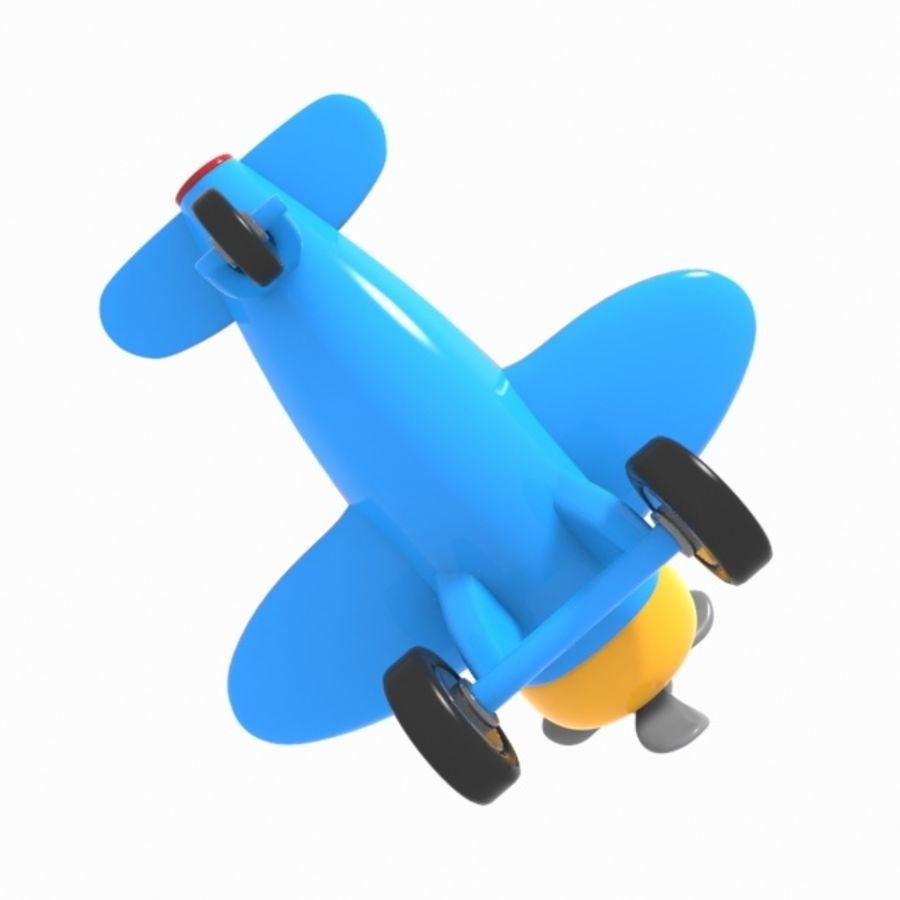 Toon Aircraft royalty-free 3d model - Preview no. 12