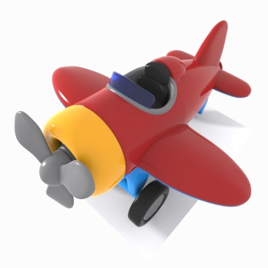 Toon Aircraft royalty-free 3d model - Preview no. 6