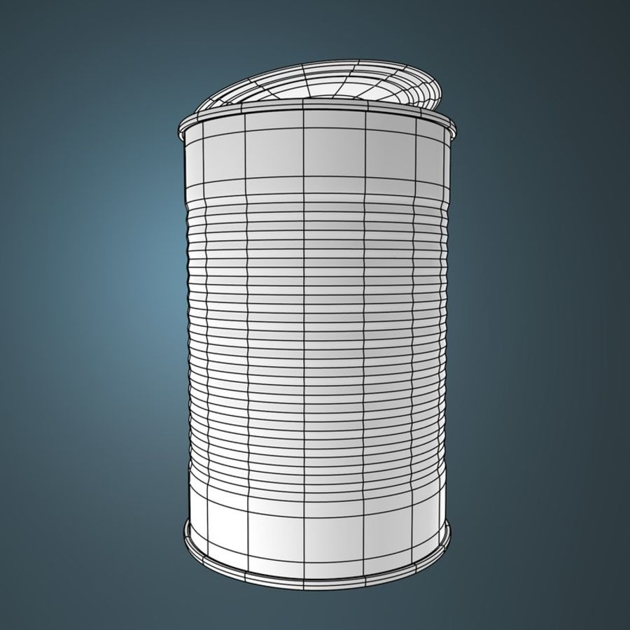 empty food can royalty-free 3d model - Preview no. 2