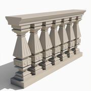 Square Balustrade - Type I 3d model