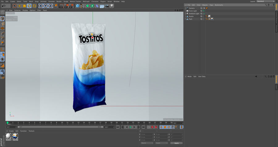 Food packaging royalty-free 3d model - Preview no. 6