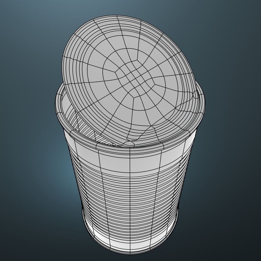 open empty food can #3 royalty-free 3d model - Preview no. 2