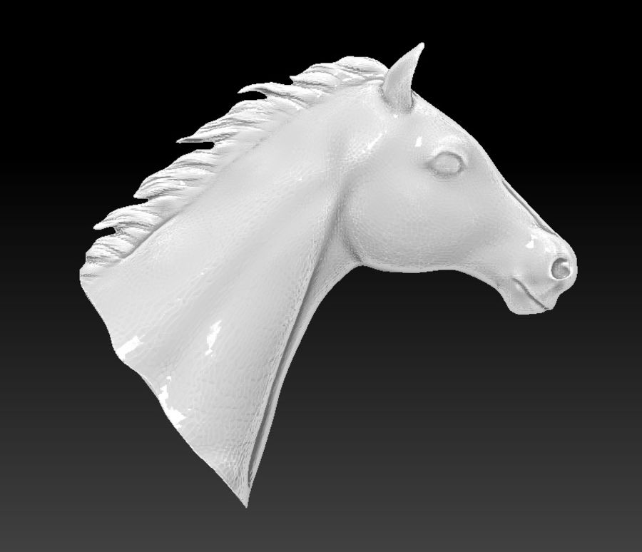 horse head royalty-free 3d model - Preview no. 3