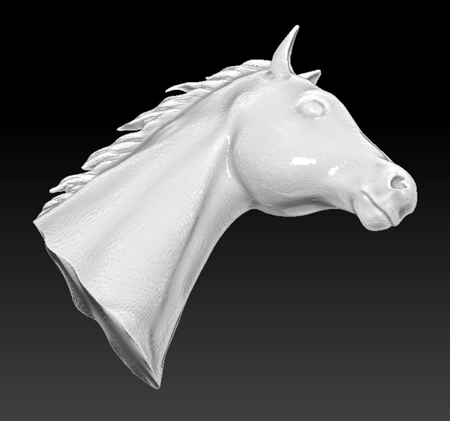 horse head royalty-free 3d model - Preview no. 5
