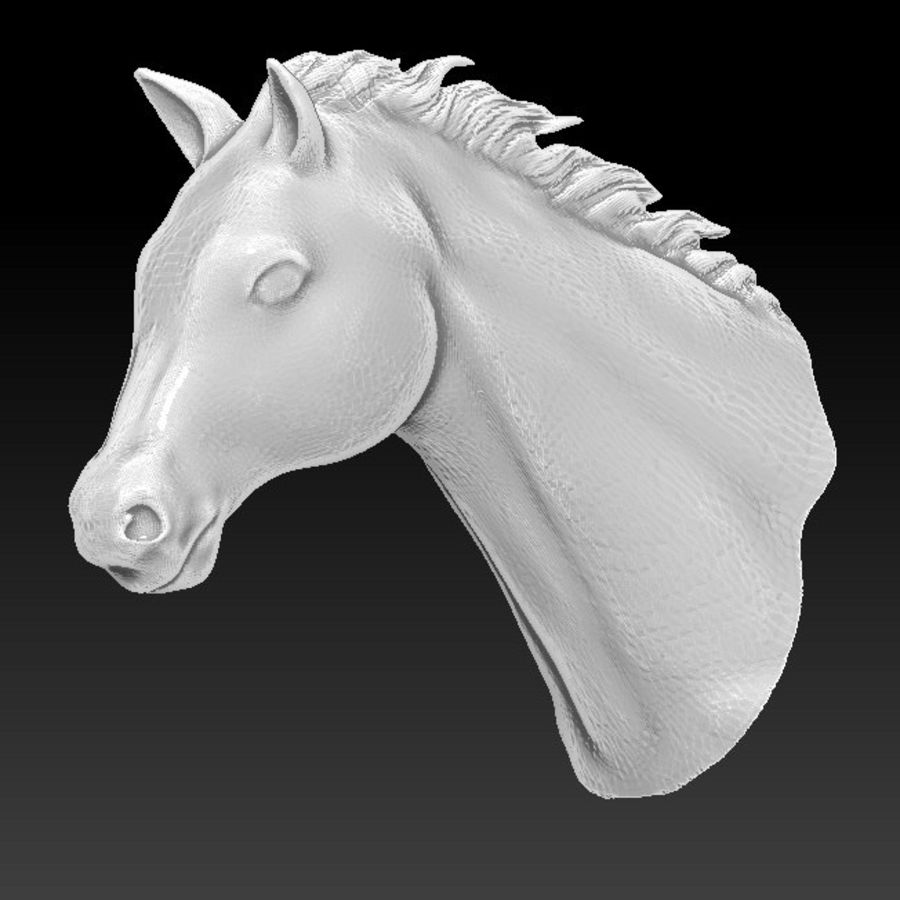 horse head royalty-free 3d model - Preview no. 1