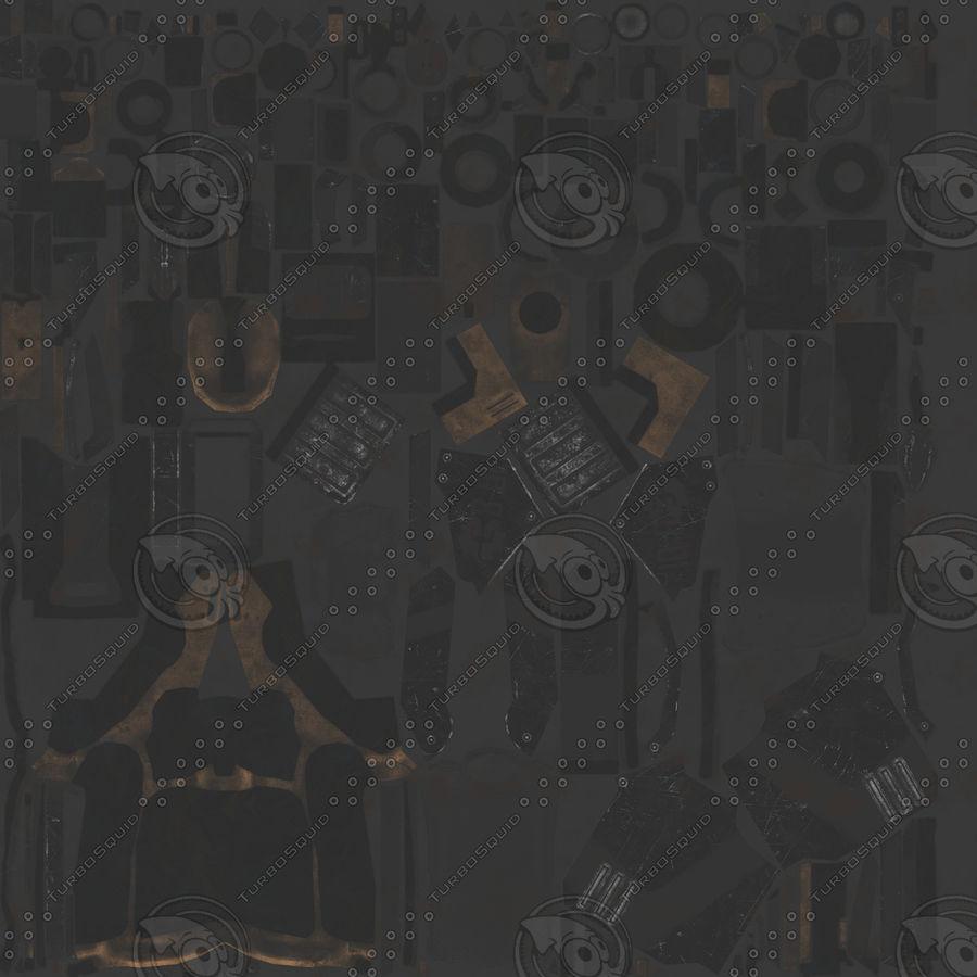 Sci-fi Pistol royalty-free 3d model - Preview no. 5