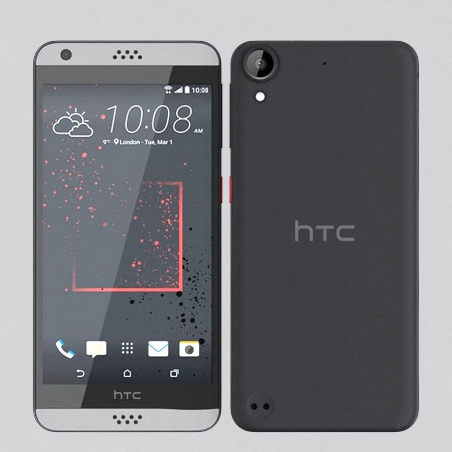 HTC Desire 530 royalty-free 3d model - Preview no. 4
