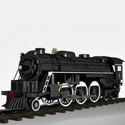 Locomotiva a vapor A1 3d model