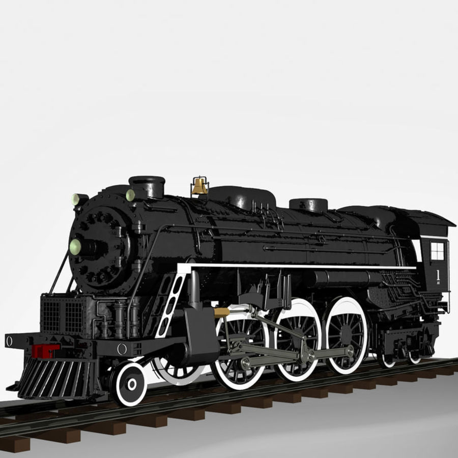 A1蒸汽机车 royalty-free 3d model - Preview no. 1