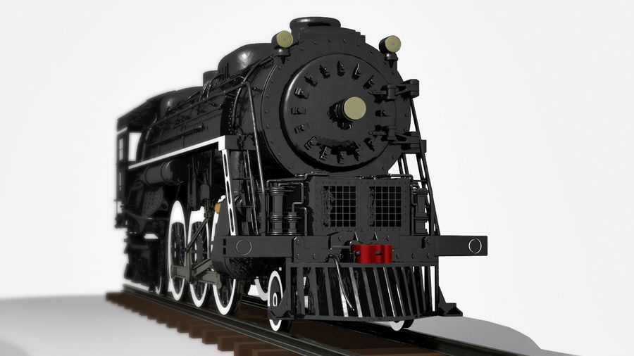 A1蒸汽机车 royalty-free 3d model - Preview no. 4