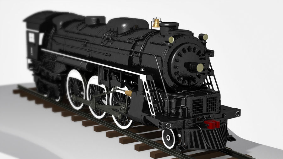 A1蒸汽机车 royalty-free 3d model - Preview no. 2