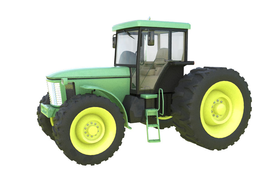 Farm Tractor royalty-free 3d model - Preview no. 3