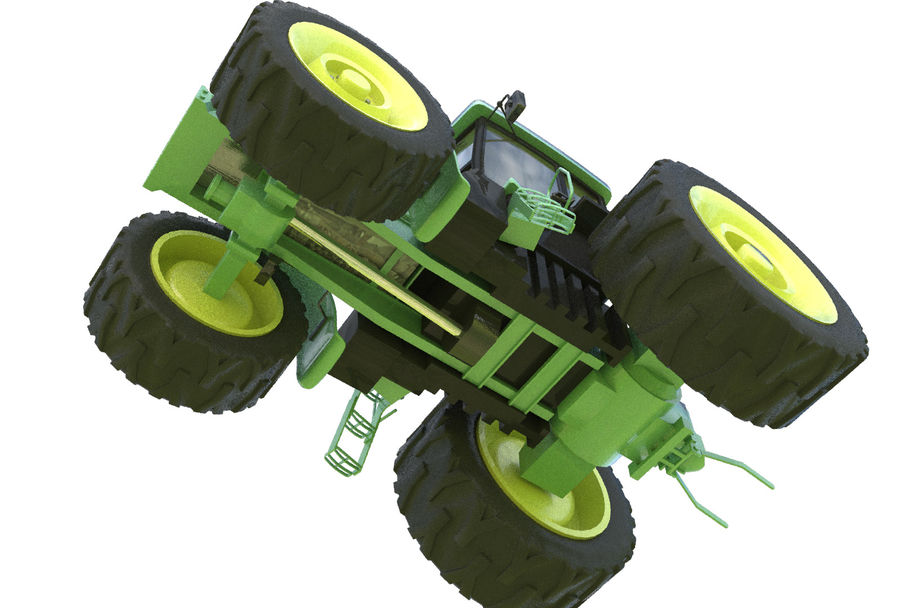Farm Tractor royalty-free 3d model - Preview no. 8