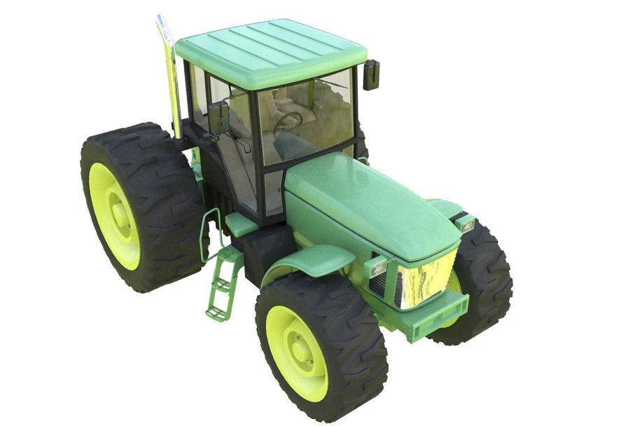 Farm Tractor royalty-free 3d model - Preview no. 7