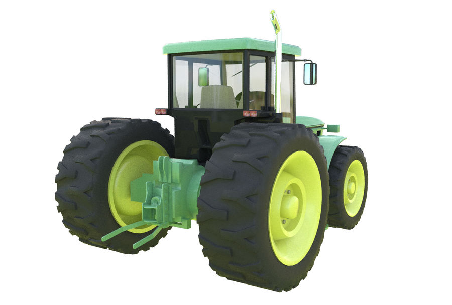 Farm Tractor royalty-free 3d model - Preview no. 6