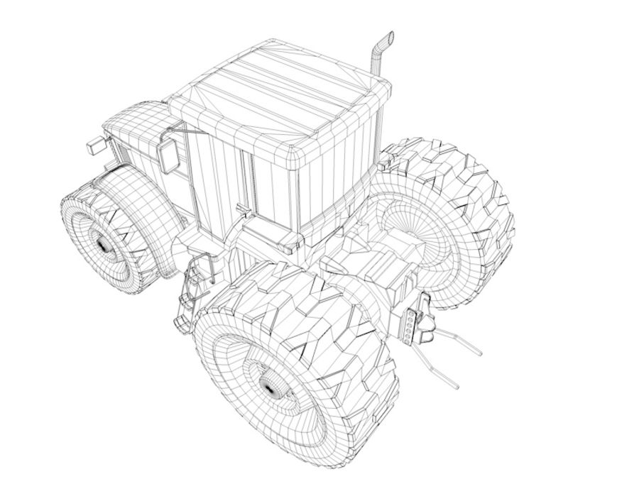 Farm Tractor royalty-free 3d model - Preview no. 12