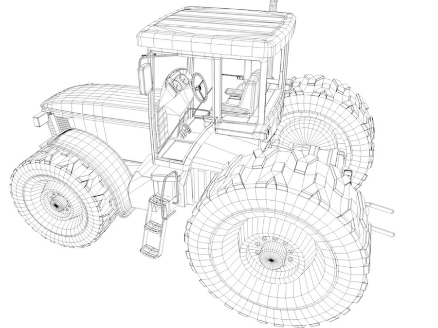 Farm Tractor royalty-free 3d model - Preview no. 13