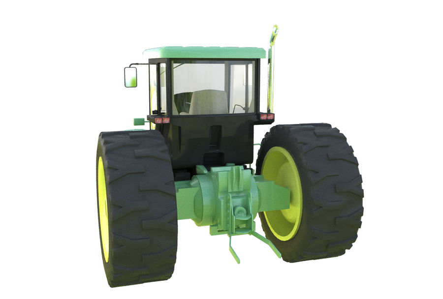 Farm Tractor royalty-free 3d model - Preview no. 5