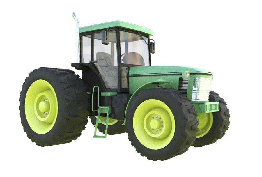 Farm Tractor royalty-free 3d model - Preview no. 1
