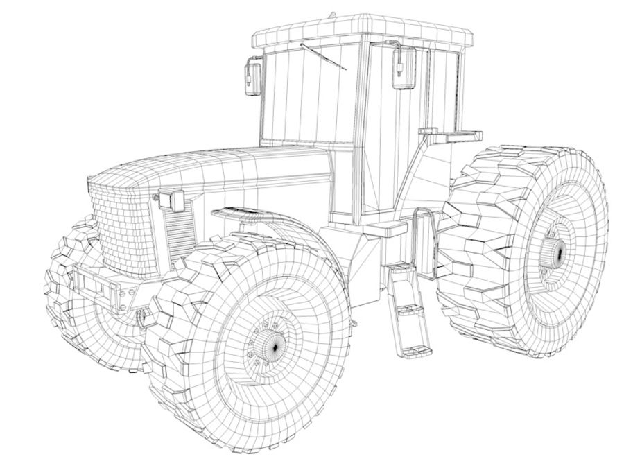 Farm Tractor royalty-free 3d model - Preview no. 11