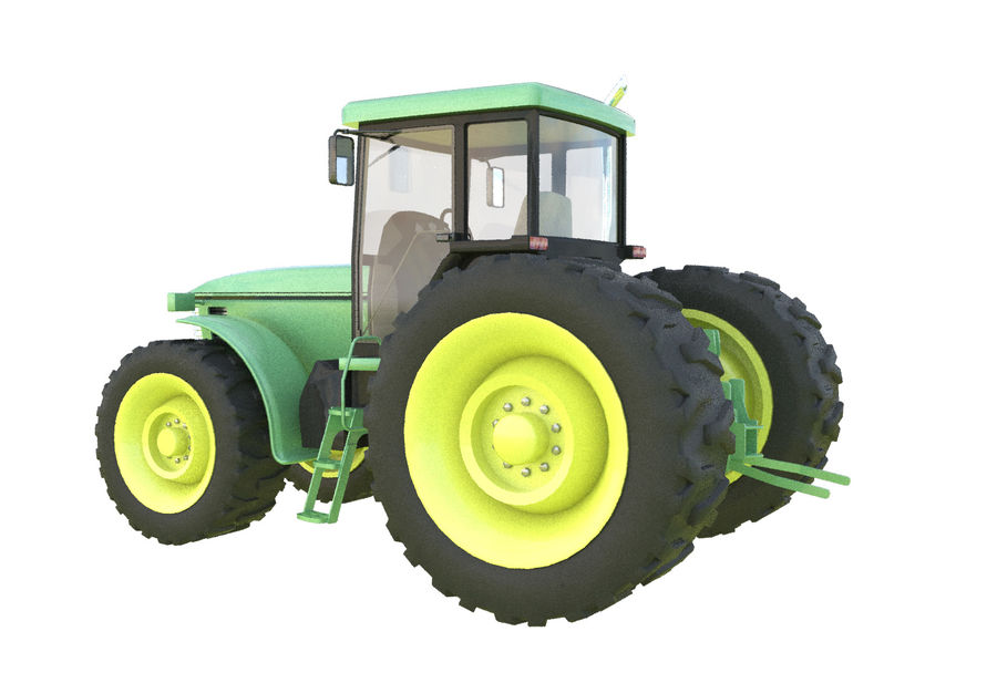 Farm Tractor royalty-free 3d model - Preview no. 4