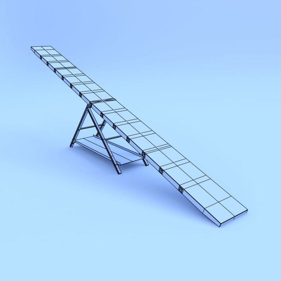 Seesaw royalty-free 3d model - Preview no. 4