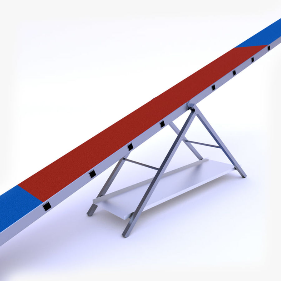 Seesaw royalty-free 3d model - Preview no. 3