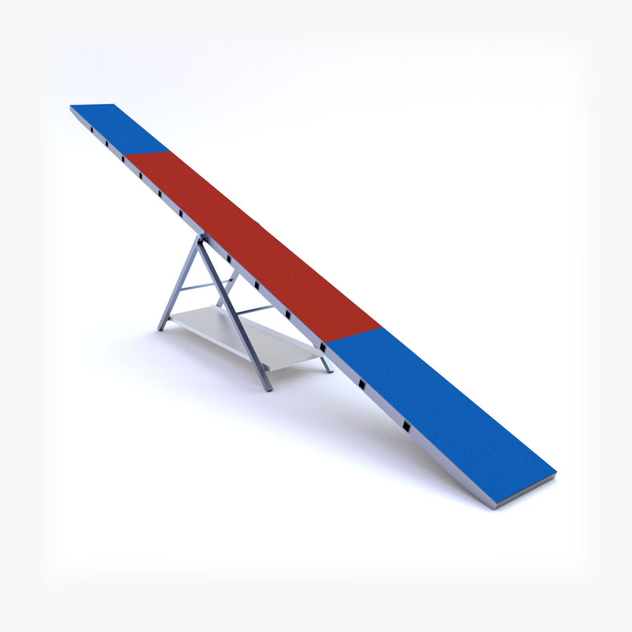 Seesaw royalty-free 3d model - Preview no. 1