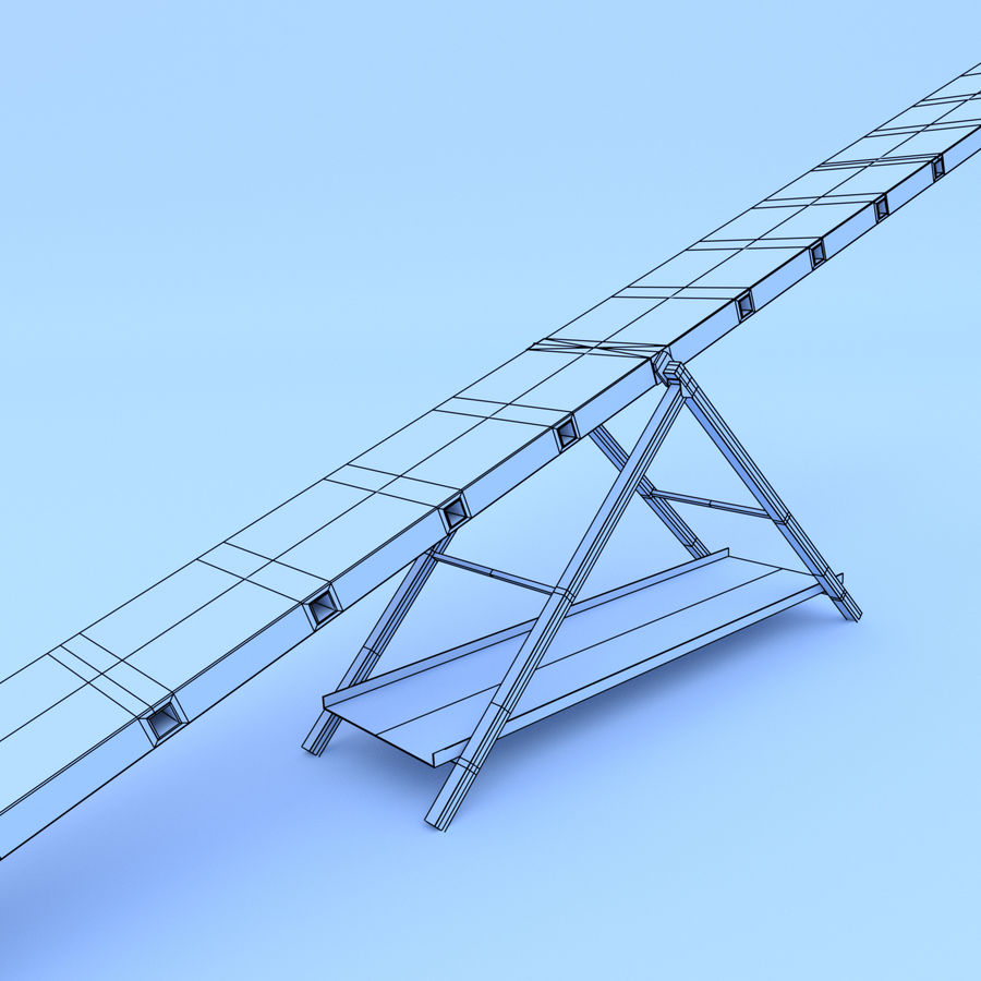 Seesaw royalty-free 3d model - Preview no. 6