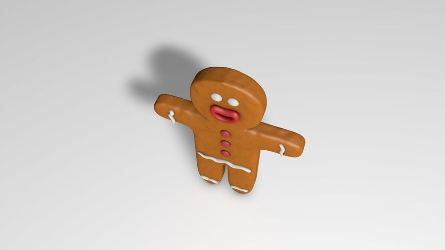 Gingerbread royalty-free 3d model - Preview no. 5