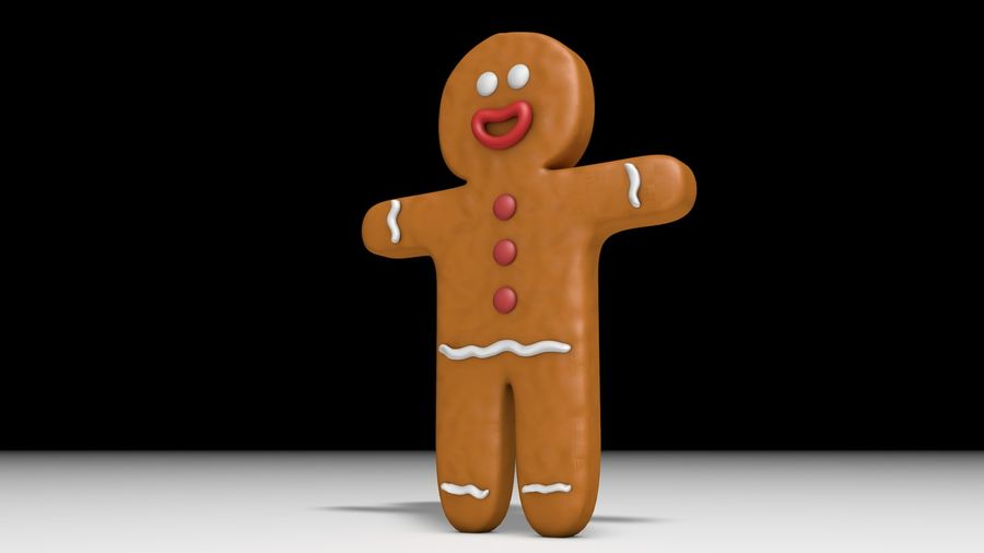 Gingerbread royalty-free 3d model - Preview no. 4