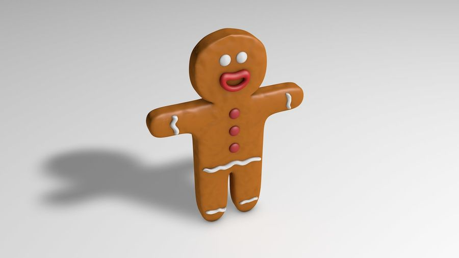 Gingerbread royalty-free 3d model - Preview no. 1