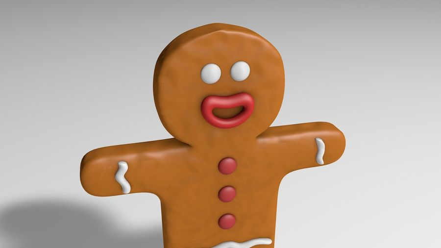 Gingerbread royalty-free 3d model - Preview no. 2