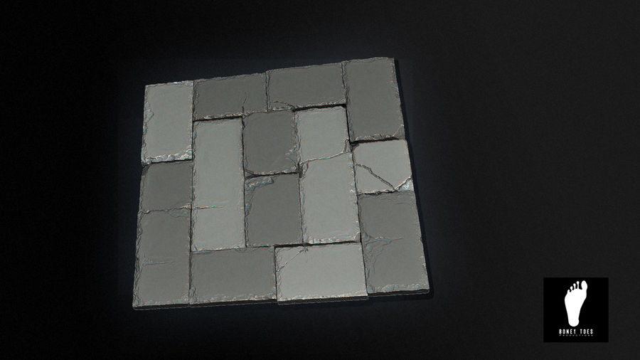 2 Tileable Stone Floor Tiles 3d Model 25 X Obj Ztl Free3d