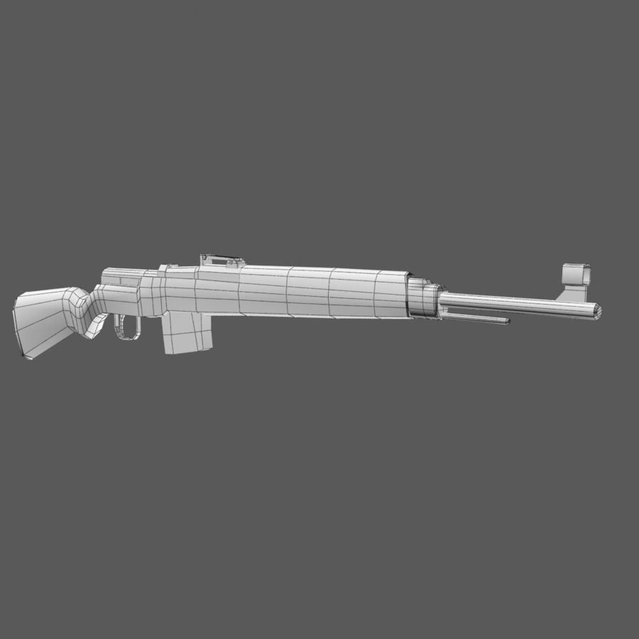 Gewehr 43 - Low Poly Authentic WW2 Weapon rifle gun royalty-free 3d model - Preview no. 6