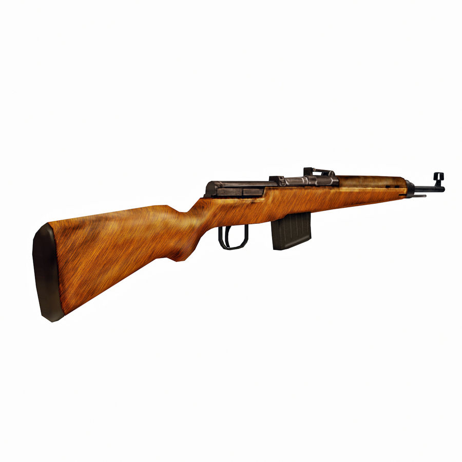 Gewehr 43 - Low Poly Authentic WW2 Weapon rifle gun royalty-free 3d model - Preview no. 3