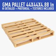Wood Pallet (5) 3d model