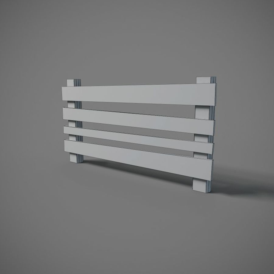 Low Poly Fence royalty-free 3d model - Preview no. 3